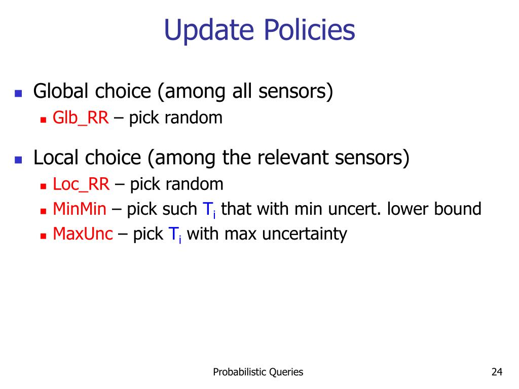 Update Policies