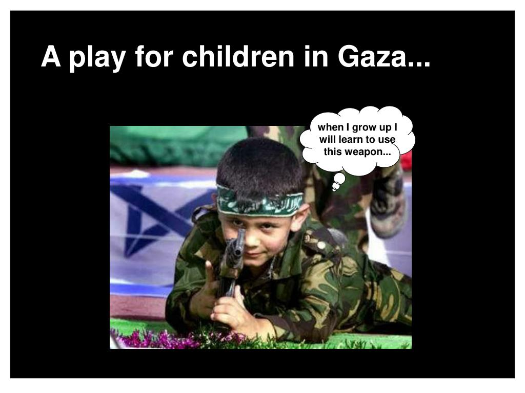 A play for children in Gaza...