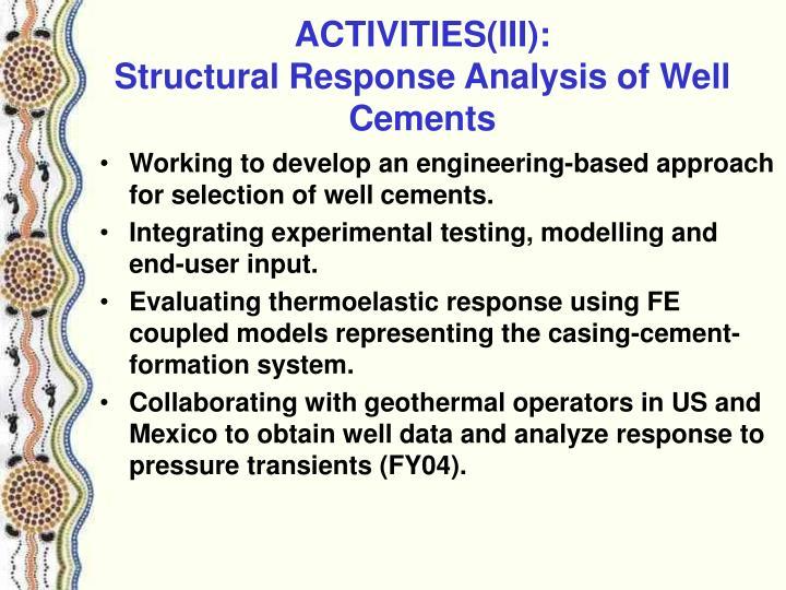 ACTIVITIES(III):
