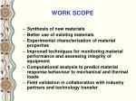 work scope