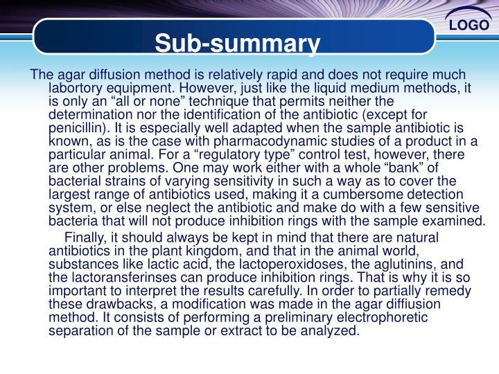 Sub-summary