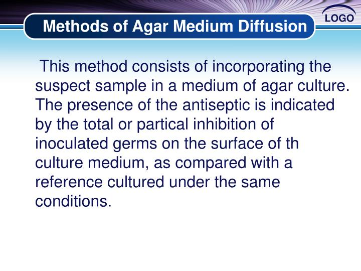Methods of Agar Medium Diffusion
