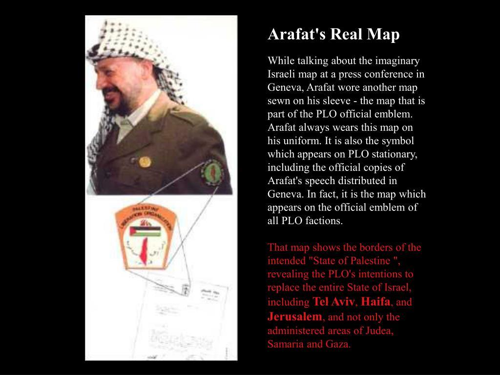 Arafat's Real Map