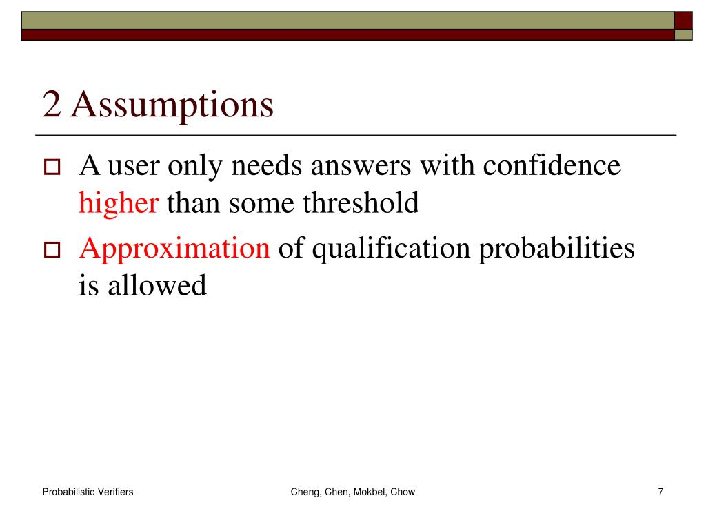 2 Assumptions
