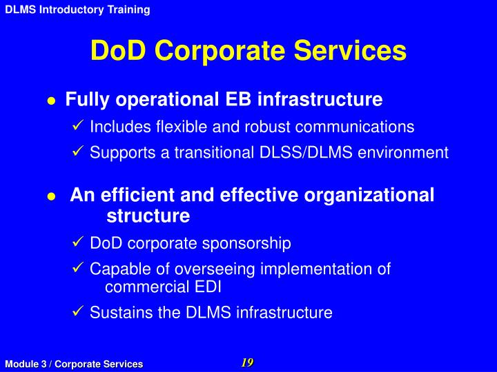 DoD Corporate Services