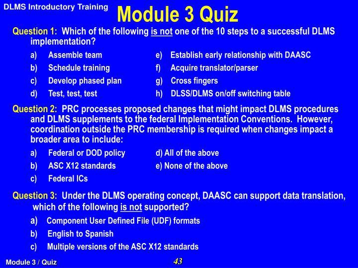 Module 3 Quiz