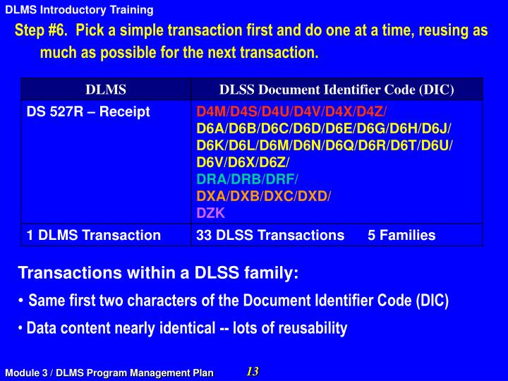 Step #6.  Pick a simple transaction first and do one at a time, reusing as