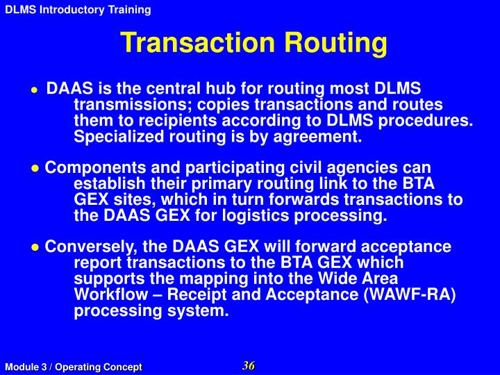 Transaction Routing