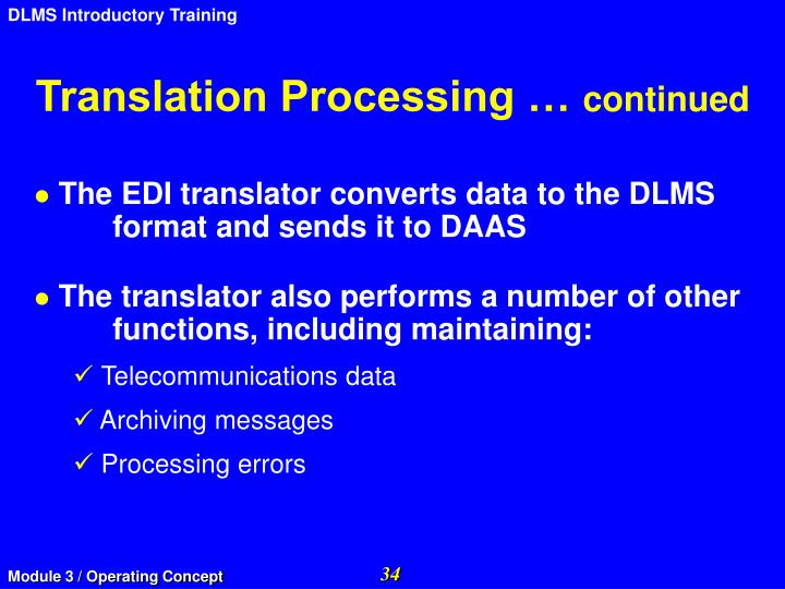 Translation Processing …