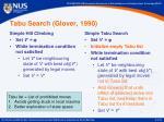 tabu search glover 1990