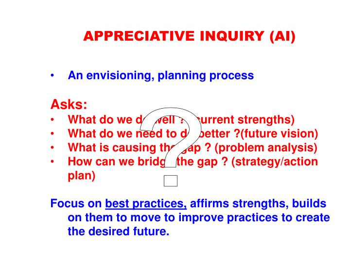 APPRECIATIVE INQUIRY (AI)