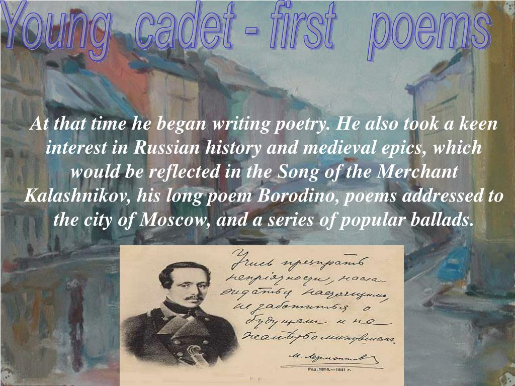 Young  cadet - first   poems