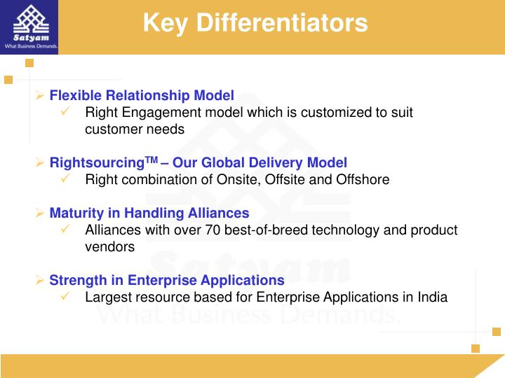 Key Differentiators