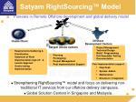 satyam rightsourcing model