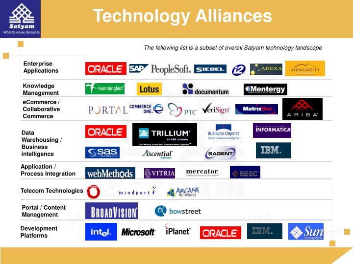 Technology Alliances