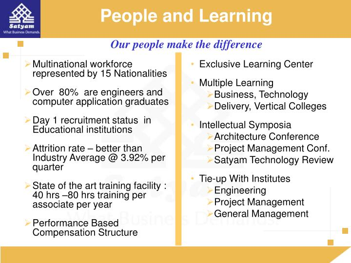 People and Learning