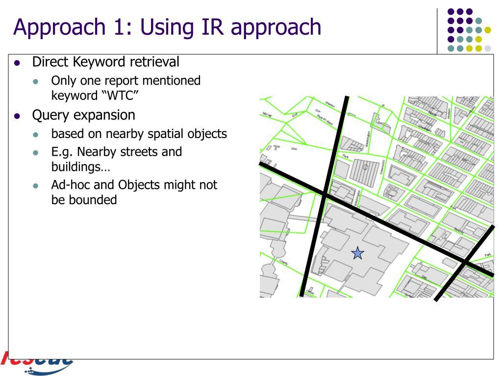 Approach 1: Using IR approach