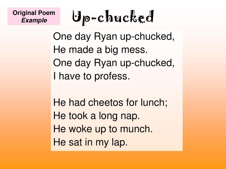 Up-chucked