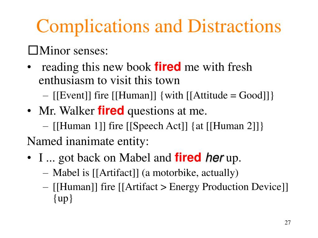 Complications and Distractions