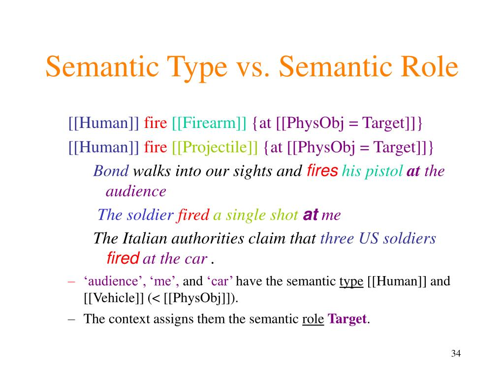 Semantic Type vs. Semantic Role