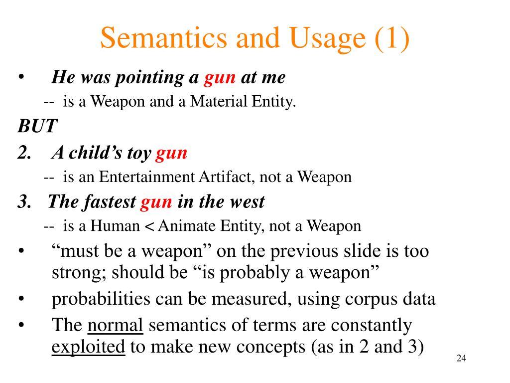 Semantics and Usage (1)