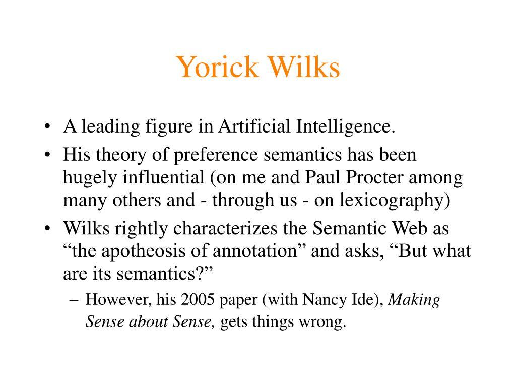 Yorick Wilks