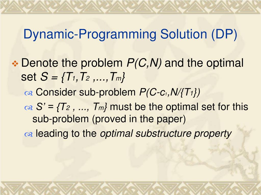 Dynamic-Programming Solution (DP)