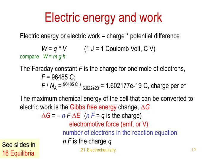 Electric energy and work