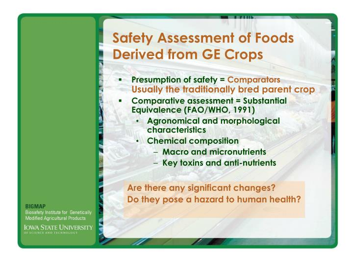 Safety Assessment of Foods