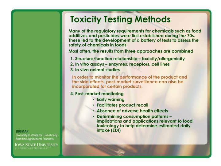 Toxicity Testing Methods