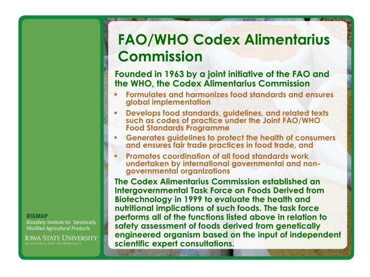 FAO/WHO Codex Alimentarius Commission