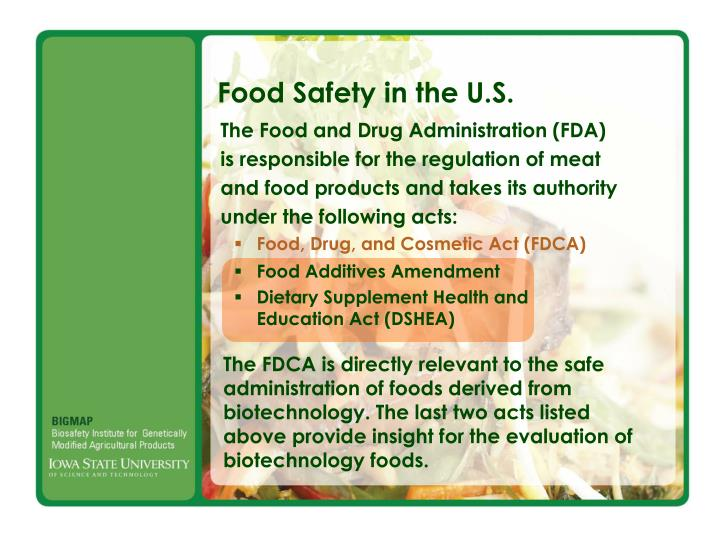 Food Safety in the U.S.