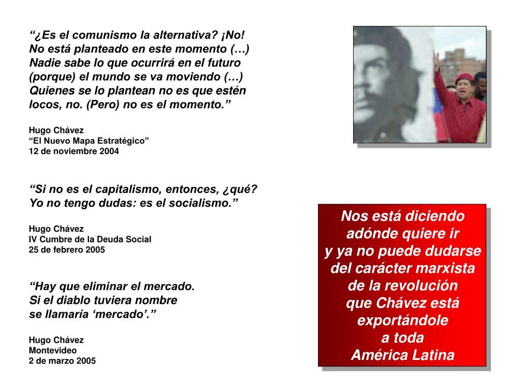 """""""¿Es el comunismo la alternativa? ¡No!"""