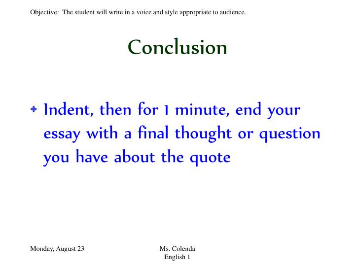 essay conclusion ppt The world's greatest selection of powerpoint templates - winnerstanding ovation award: best powerpoint templates - download some today.