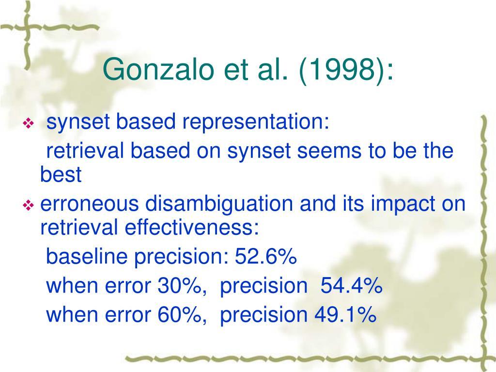 Gonzalo et al. (1998):