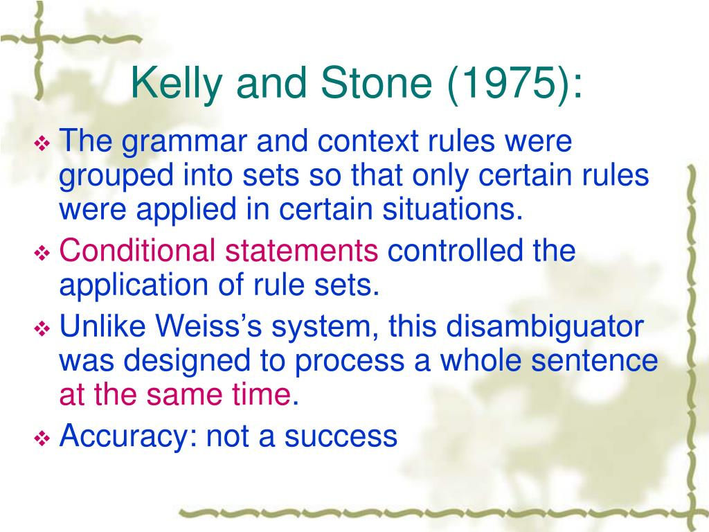 Kelly and Stone (1975):
