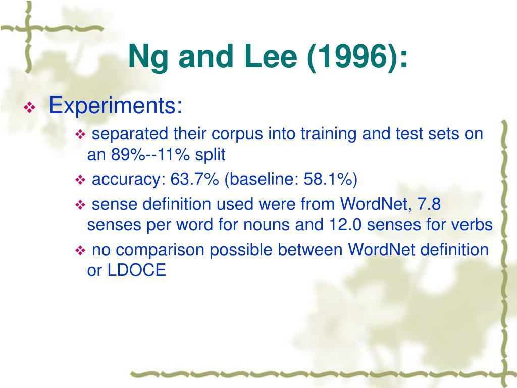 Ng and Lee (1996):