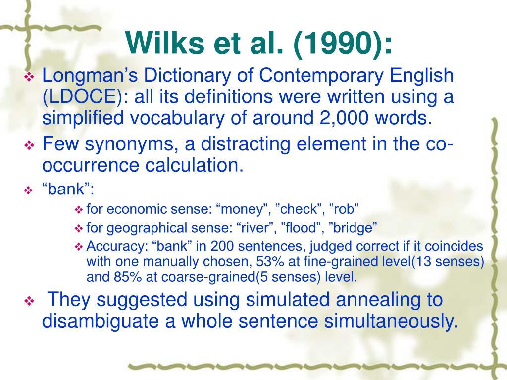 Wilks et al. (1990):