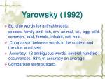 yarowsky 1992