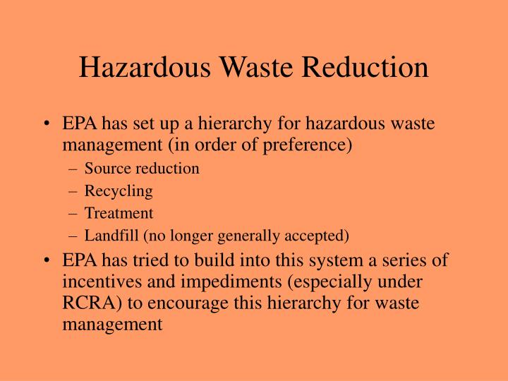 Hazardous Waste Reduction