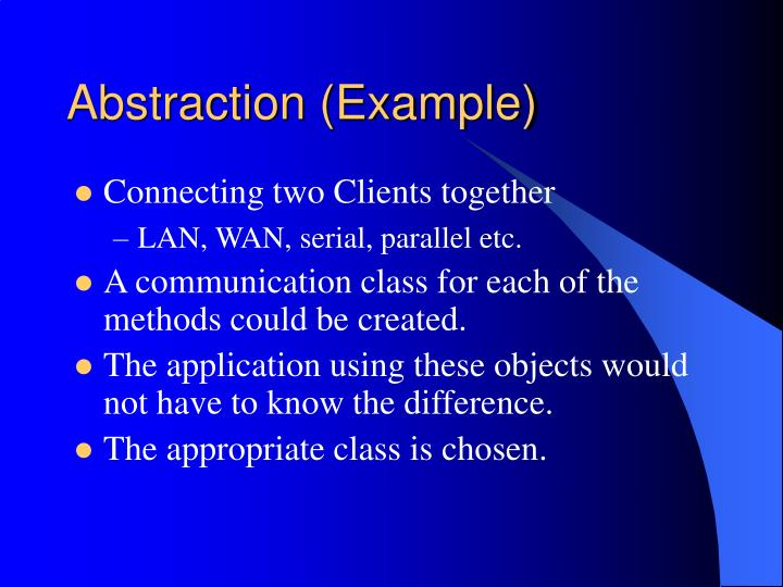 Abstraction (Example)