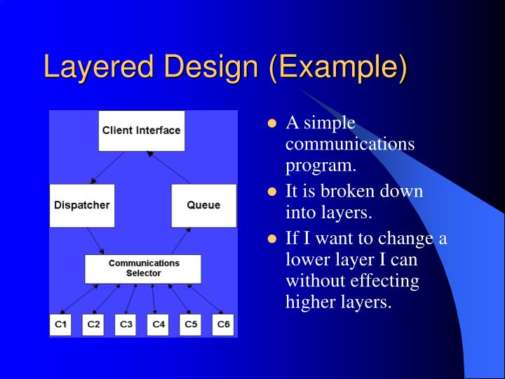 Layered Design (Example)