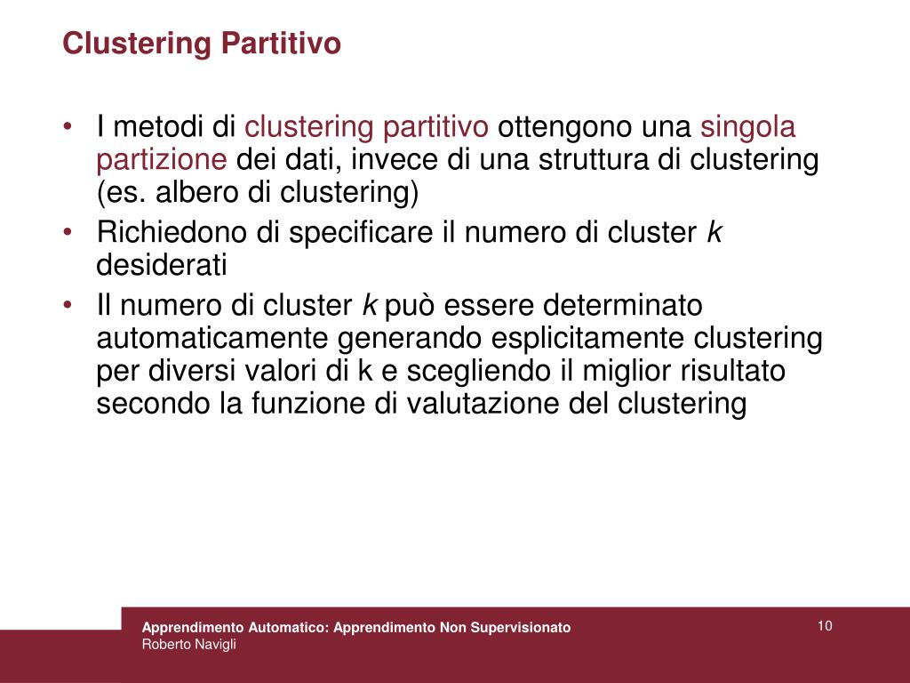 Clustering Partitivo