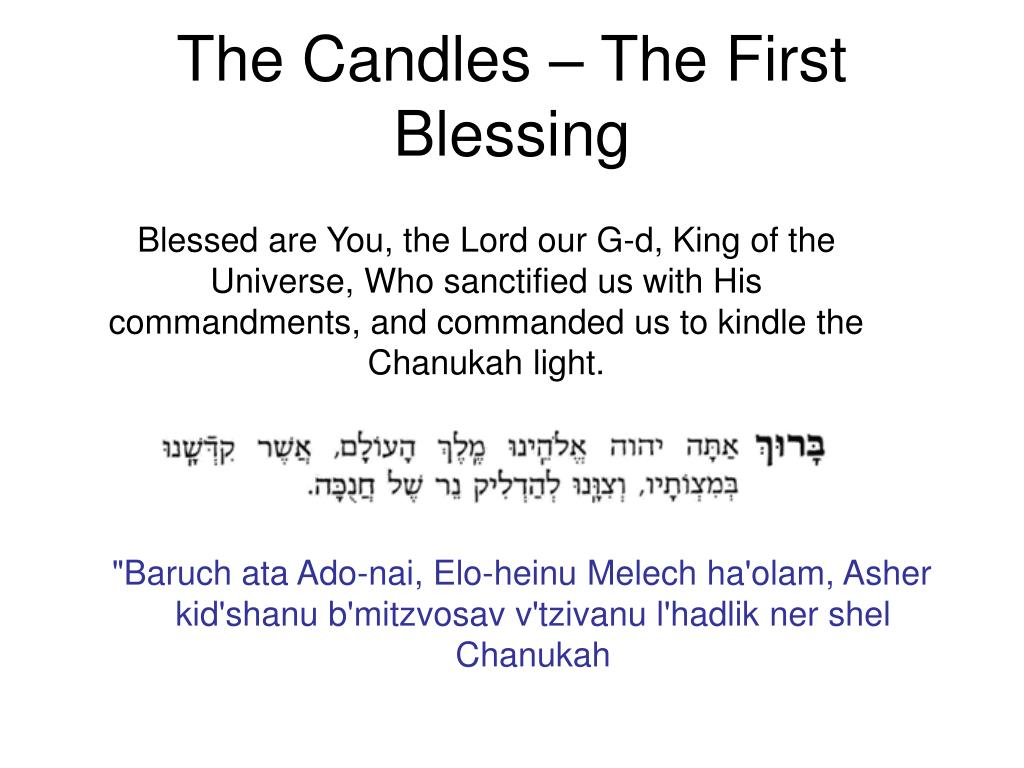 The Candles – The First Blessing