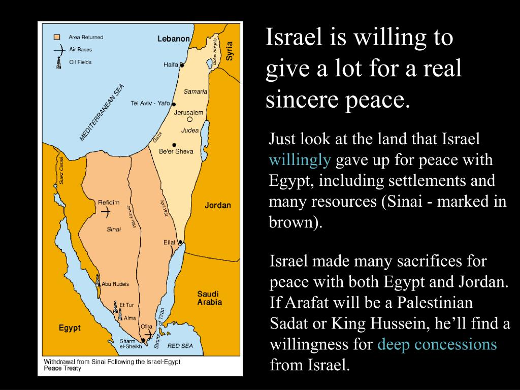 Israel is willing to give a lot for a real sincere peace.