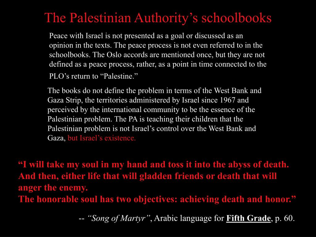 The Palestinian Authority's schoolbooks
