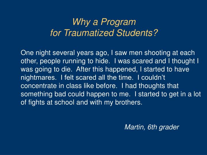 Why a Program