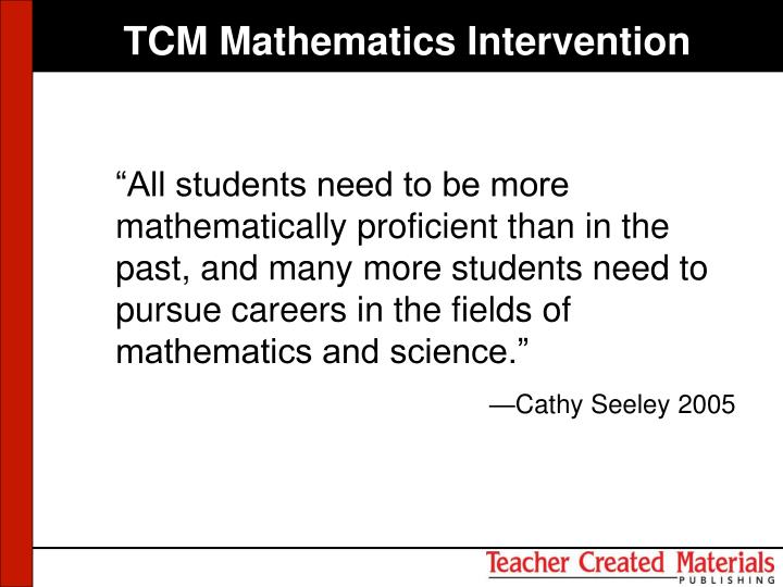 TCM Mathematics Intervention