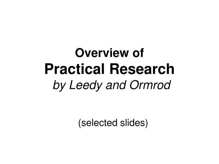 practical research planning and design 9th edition pdf Practice test bank for practical research planning and design by leedy 9th edition.