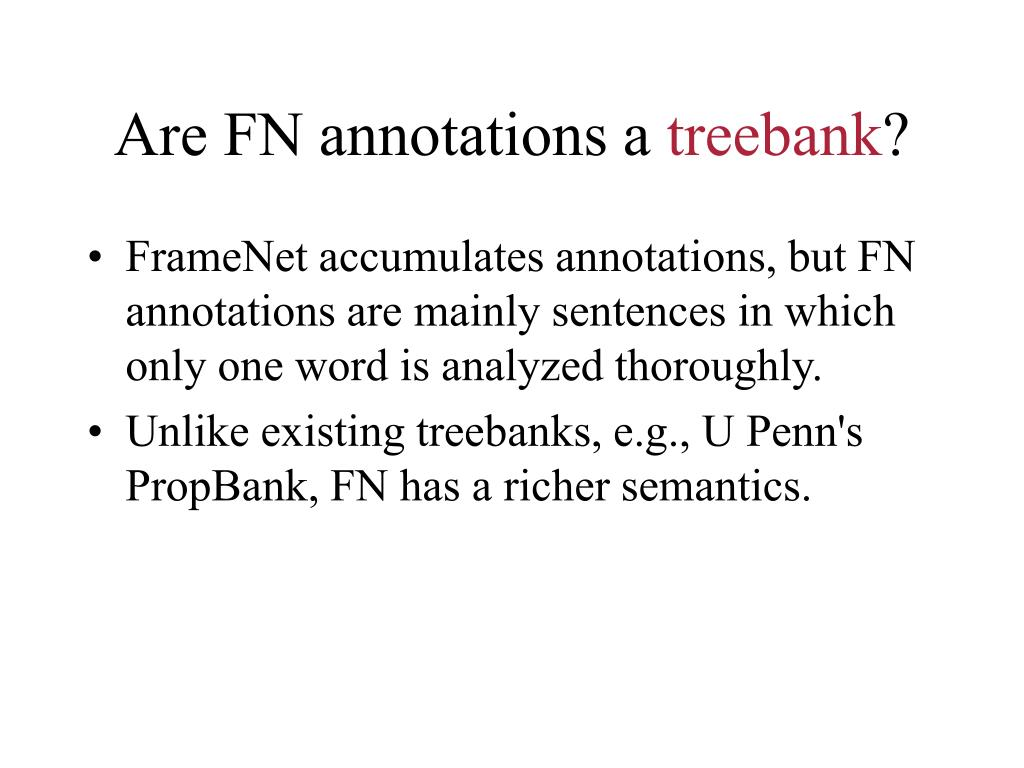 Are FN annotations a